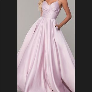 Dusty pink prom dress